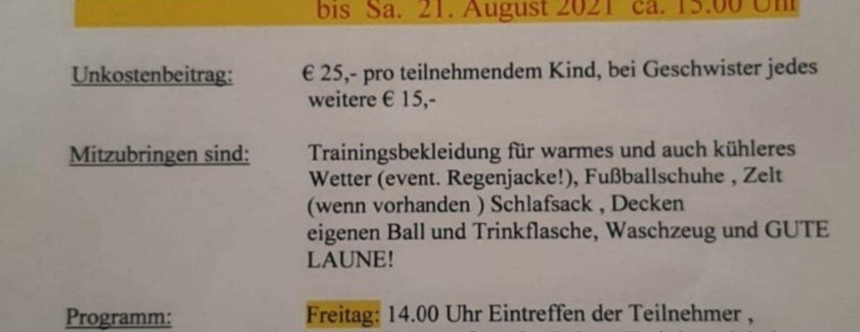 Jugend Trainingscamp USC Wetzelsdorf
