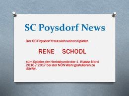 Rene Schodl - Spieler der Herbstrunde