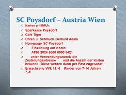 Kartenvorverkauf: SC Poysdorf - FK Austria Wien