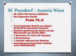 VIP Karten: SC Poysdorf - FK Austria Wien