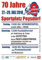 70 Jahre SC Poysdorf